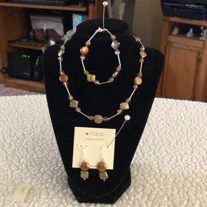 Jewelry - NWT-Necklace/Bracelet/Earrings, Sterling/FW Pearls